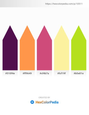 Palette image download - Purple – Coral – Indian Red – Navajo White – Yellow Green