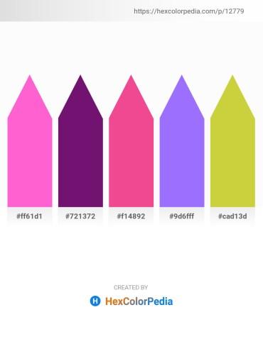Palette image download - Hot Pink – Purple – Hot Pink – Medium Slate Blue – Yellow Green