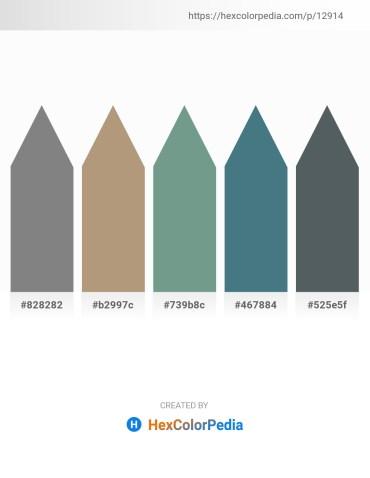 Palette image download - Gray – Rosy Brown – Cadet Blue – Cadet Blue – Dark Slate Gray