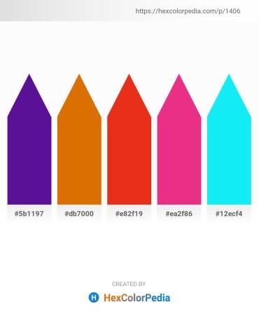 Palette image download - Indigo – Dark Orange – Crimson – Medium Violet Red – Aqua