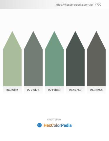 Palette image download - Dark Sea Green – Slate Gray – Cadet Blue – Dark Slate Gray – Dim Gray