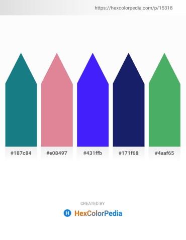 Palette image download - Light Sea Green – Pale Violet Red – Blue – Midnight Blue – Medium Sea Green