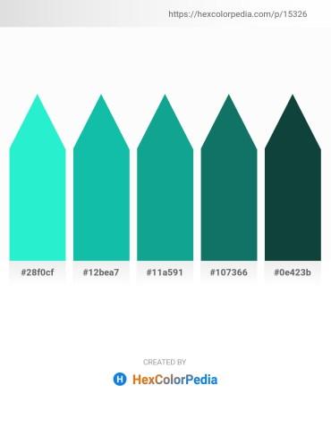 Palette image download - Turquoise – Light Sea Green – Light Sea Green – Teal – Orange Red