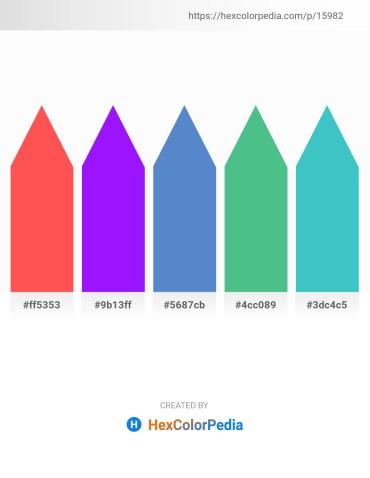 Palette image download - Tomato – Dark Violet – Steel Blue – Medium Sea Green – Medium Turquoise