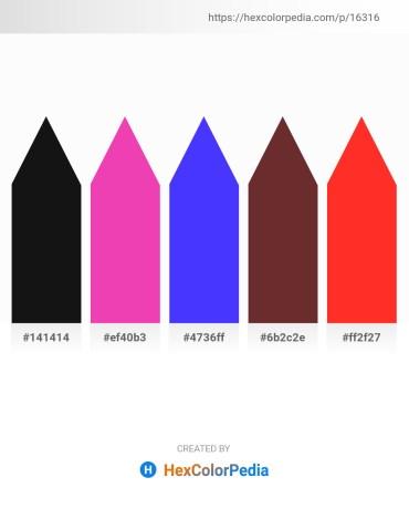 Palette image download - Black – Hot Pink – Blue – Sienna – Orange Red