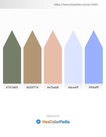 Palette image download - Dim Gray – Dark Khaki – Burlywood – Alice Blue – Light Sky Blue