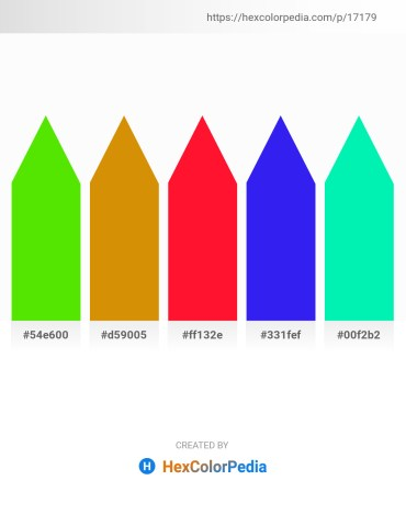 Palette image download - Lawn Green – Dark Goldenrod – Red – Blue – Medium Spring Green