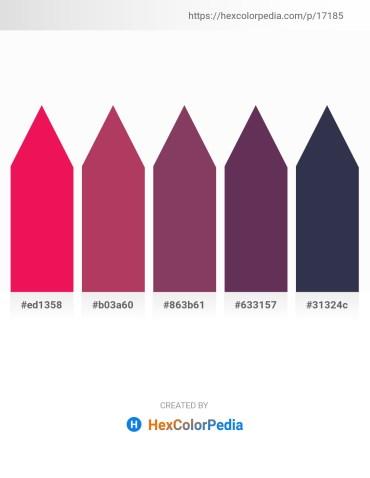 Palette image download - Crimson – Indian Red – Firebrick – Purple – Midnight Blue