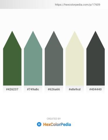 Palette image download - Dark Olive Green – Cadet Blue – Slate Gray – Beige – Dark Slate Gray