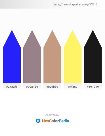 Palette image download - Blue – Gray – Rosy Brown – Navajo White – Black