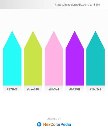 Palette image download - Aqua – Yellow Green – Pink – Dark Violet – Light Sea Green