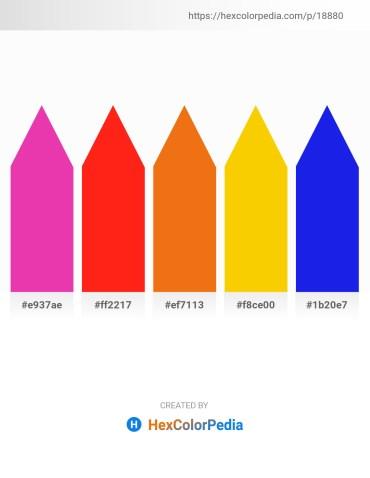 Palette image download - Medium Violet Red – Red – Chocolate – Gold – Blue