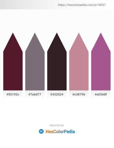 Palette image download - Indigo – Dim Gray – Black – Rosy Brown – Indian Red