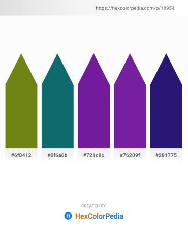 Palette image download - Olive Drab – Teal – Dark Orchid – Dark Orchid – Midnight Blue