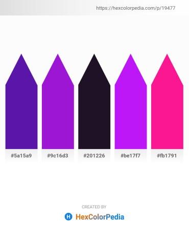 Palette image download - Blue Violet – Blue Violet – Hot Pink – Dark Violet – Deep Pink
