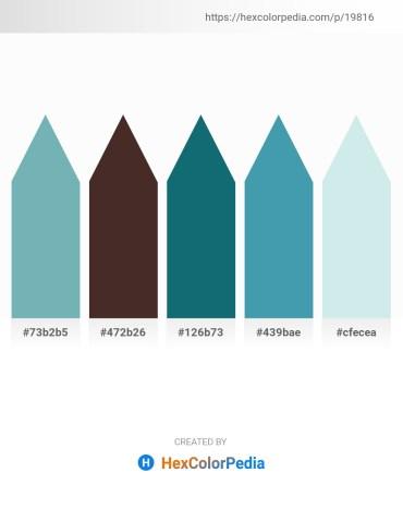 Palette image download - Cadet Blue – Slate Gray – Teal – Steel Blue – Powder Blue