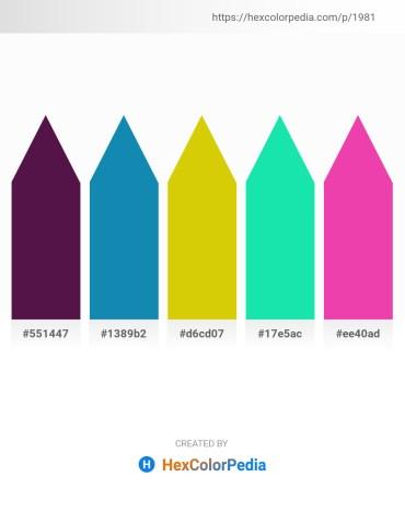 Palette image download - Indigo – Firebrick – Gold – Turquoise – Deep Pink