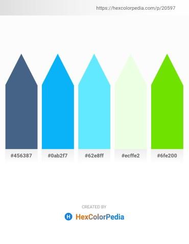 Palette image download - Dark Slate Blue – Deep Sky Blue – Light Sky Blue – Honeydew – Lawn Green