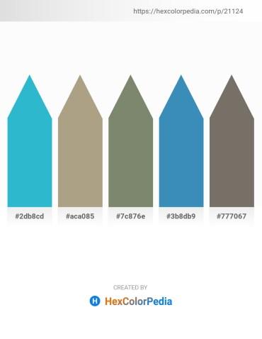 Palette image download - Medium Turquoise – Light Sea Green – Gray – Steel Blue – Dim Gray