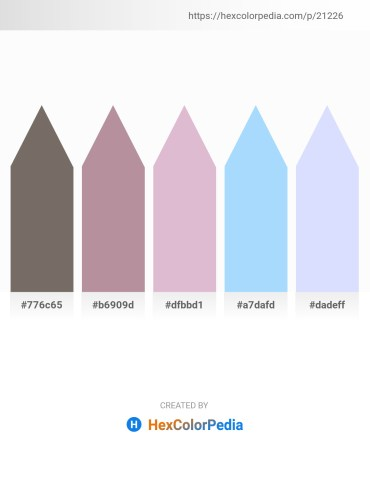 Palette image download - Dim Gray – Rosy Brown – Thistle – Light Sky Blue – Alice Blue