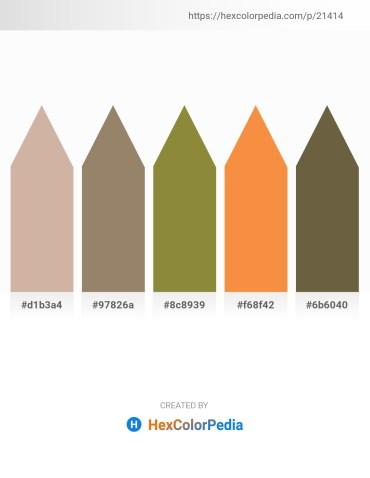 Palette image download - Tan – Gray – Dark Olive Green – Sandy Brown – Dark Olive Green