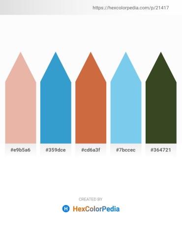 Palette image download - Burlywood – Honeydew – Peru – Sky Blue – Dark Olive Green