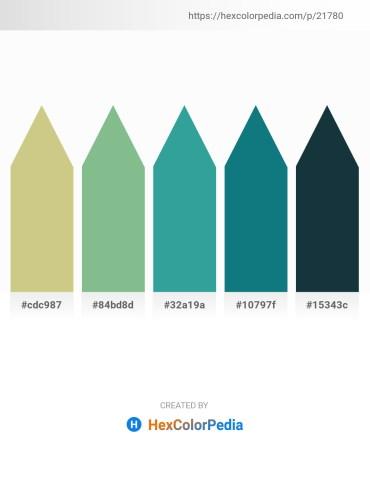 Palette image download - Tan – Dark Sea Green – Medium Sea Green – Teal – Dark Slate Gray