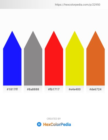 Palette image download - Blue – Gray – Red – Gold – Chocolate