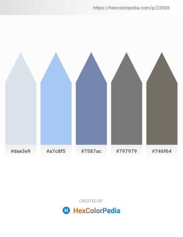 Palette image download - Light Steel Blue – Sky Blue – Light Slate Gray – Gray – Dim Gray