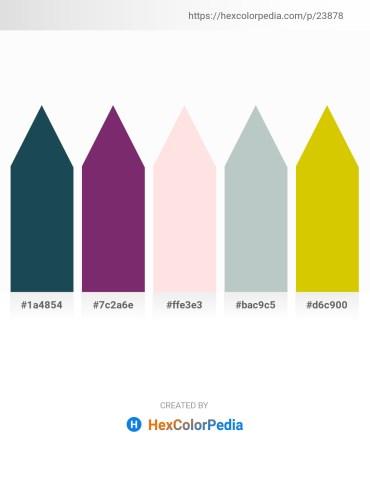 Palette image download - Midnight Blue – Misty Rose – Misty Rose – Dark Sea Green – Gold