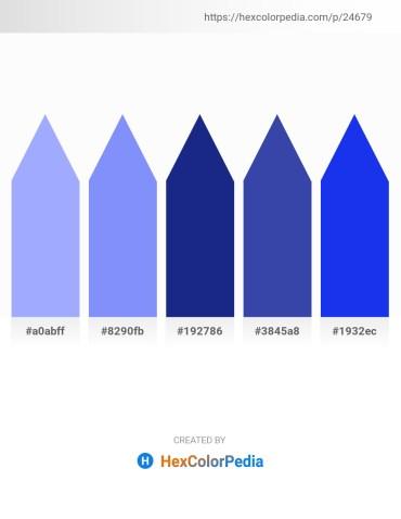 Palette image download - Light Sky Blue – Light Sky Blue – Midnight Blue – Dark Slate Blue – Blue