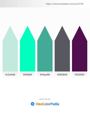 Palette image download - Powder Blue – Medium Spring Green – Medium Sea Green – Slate Gray – Purple