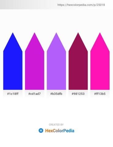 Palette image download - Blue – Blue Violet – Medium Slate Blue – Medium Violet Red – Deep Pink