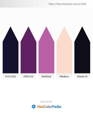 Palette image download - Midnight Blue – Dark Slate Blue – Purple – Antique White – Midnight Blue