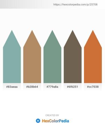 Palette image download - Cadet Blue – Dark Khaki – Cadet Blue – Dim Gray – Peru