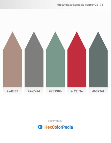 Palette image download - Rosy Brown – Gray – Light Slate Gray – Brown – Slate Gray