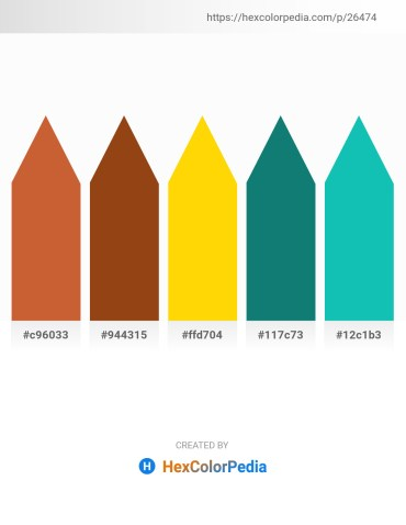 Palette image download - Peru – Saddle Brown – Gold – Teal – Light Sea Green