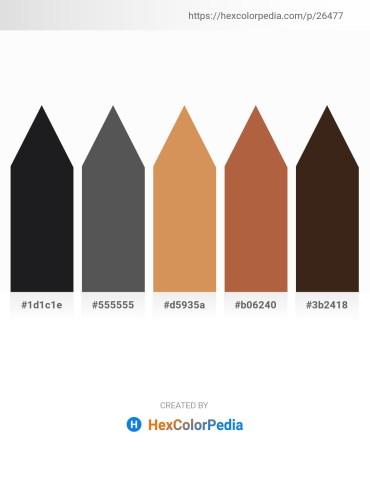 Palette image download - Black – Dim Gray – Peru – Sienna – Lime
