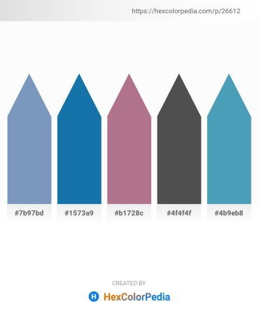 Palette image download - Cadet Blue – Honeydew – Rosy Brown – Dim Gray – Steel Blue