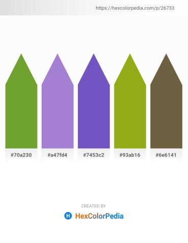 Palette image download - Olive Drab – Medium Purple – Slate Blue – Goldenrod – Dark Olive Green