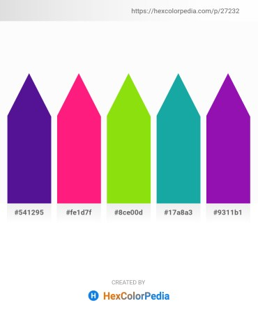 Palette image download - Indigo – Deep Pink – Lawn Green – Light Sea Green – Dark Violet