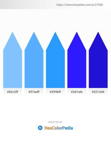 Palette image download - Light Sky Blue – Light Sky Blue – Dodger Blue – Blue – Medium Blue