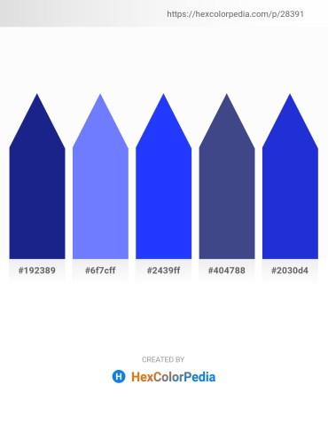 Palette image download - Midnight Blue – Medium Slate Blue – Blue – Dark Slate Blue – Royal Blue