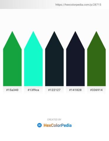 Palette image download - Forest Green – Medium Spring Green – Dark Slate Gray – Lime – Forest Green
