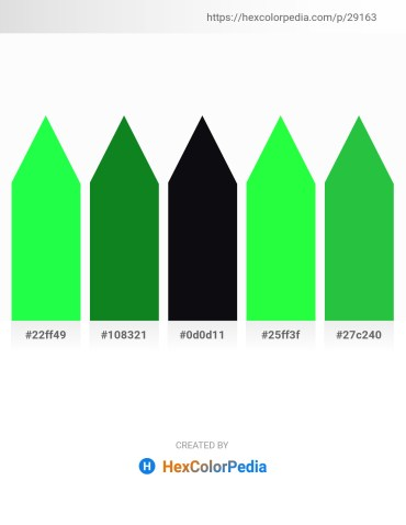 Palette image download - Spring Green – Forest Green – Medium Sea Green – Lime – Lime Green