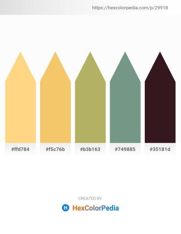 Palette image download - Navajo White – Sandy Brown – Dark Khaki – Cadet Blue – Medium Sea Green