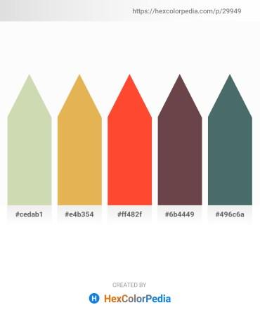 Palette image download - Tan – Honeydew – Tomato – Dim Gray – Dark Slate Gray
