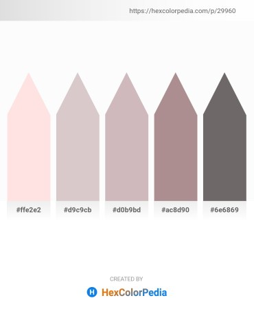 Palette image download - Misty Rose – Thistle – Thistle – Rosy Brown – Dim Gray