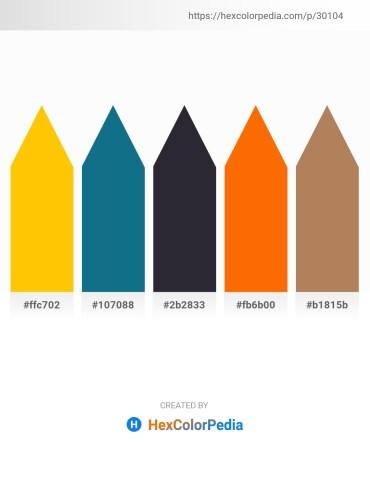 Palette image download - Gold – Teal – Plum – Dark Orange – Light Sky Blue