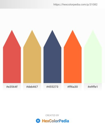 Palette image download - Indian Red – Burlywood – Dark Slate Blue – Tomato – Honeydew